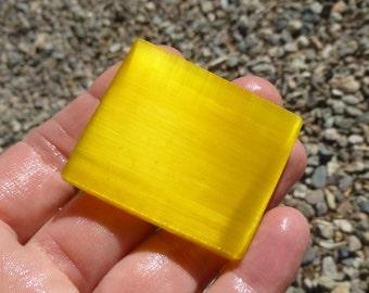 Yellow Fiber Optic Slab  (50X40X7)