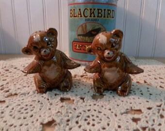 Vintage Bear Cub Salt and Pepper Shakers