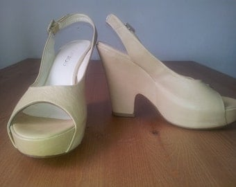 Women's shoes, Genuine leather, high heels, size EUR - 38, UK - 6, US - 8