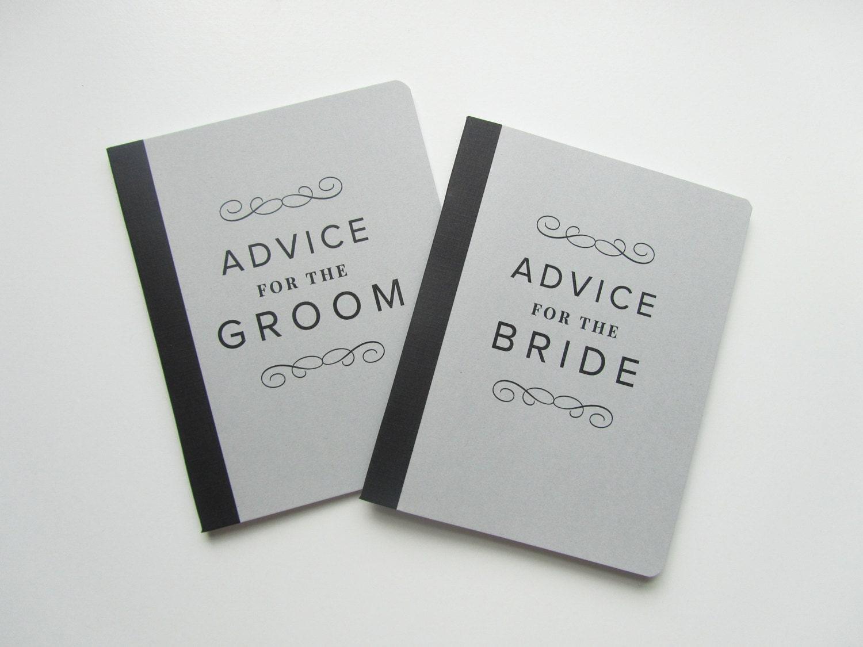 Bride And Groom Wedding Advice Books Beautiful Swirls Set Of