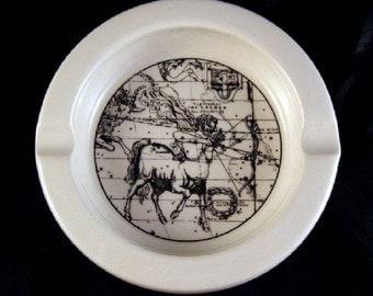 Sagittarius Zodiac Ashtray Astrology Iroquois China Black White