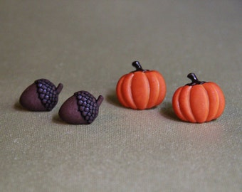 Pumpkin and Acorn Earrings!
