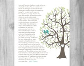 Gift for Mom from Daughter to Mom How can I Thank You? Poem Wedding Day Gift for Mother Keepsake Gift Print Tree Thank You Gift