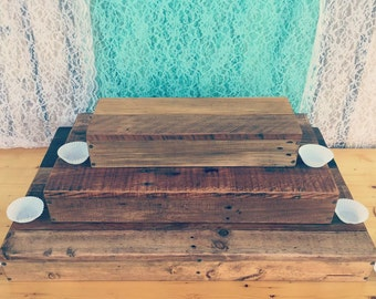 Rustic Wood cupcake Stand, large