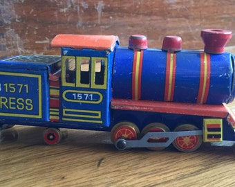 Tiny Vintage German Tin Toy Locomotive