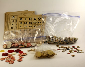 Vintage Game Pieces & Play Money