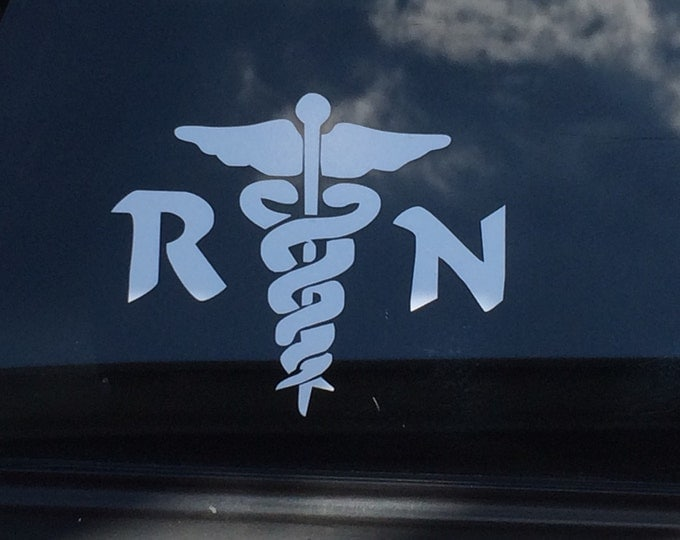 RN Nurse vinyl decal, Registered Nurse logo, Healthcare Professional decal, RN sticker,