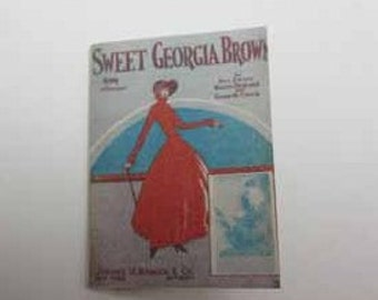 Sheet Music Sweet Georgia Brown - dollhouse miniature 1:12 scale