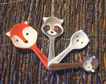 Ceramic Little Critters Measuring Spoon Set