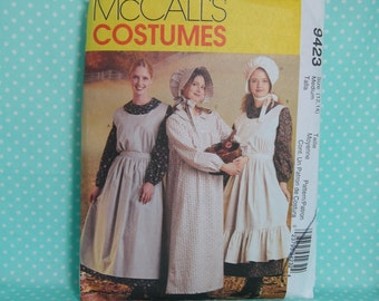 Pioneer Costume Pattern. McCall's 9423 / McCall's 7220. Adult Size M, Size:12/14. Oregon Trail, Rendevous, Mormon Trail. Cheapest shipping