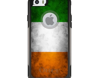 OtterBox Commuter for Apple iPhone 5S SE 5C 6 6S 7 8 PLUS X 10 - Custom Monogram - Any Colors - Ireland Old Flag