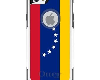 OtterBox Commuter for Apple iPhone 5S SE 5C 6 6S 7 8 PLUS X 10 - Custom Monogram - Any Colors - Venezuela Flag