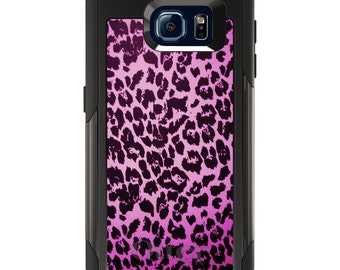 OtterBox Commuter for Galaxy S4 / S5 / S6 / S7 / S8 / S8+ / Note 4 5 8 - CUSTOM Monogram - Any Colors - Pink Purple Leopard Skin Spots