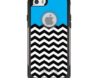 OtterBox Commuter for Apple iPhone 5S SE 5C 6 6S 7 8 PLUS X 10 - Custom Monogram - Any Colors - Black White Cyan Blue Chevron