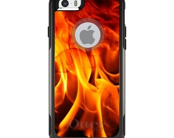 OtterBox Commuter for Apple iPhone 5S SE 5C 6 6S 7 8 PLUS X 10 - Custom Monogram - Any Colors - Red Black Flame Fire