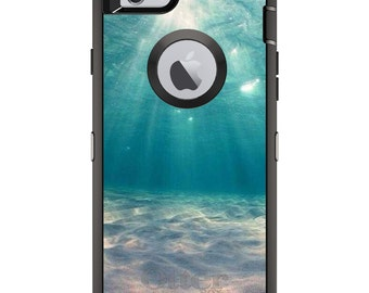 Underwater Sun Sand OtterBox Defender / Apple iPhone OR Samsung Galaxy / Diving / Custom Personalized Monogrammed / Any Color / Any Font
