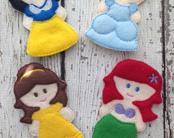 Princess Finger puppet set, Princess playset