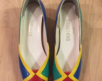 Colorful Easy Street Vintage Low Pumps