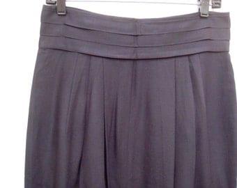 Vintage 90s Jennifer Moore Black Rayon Pencil Skirt Fully Lined Back Zip Sz 12