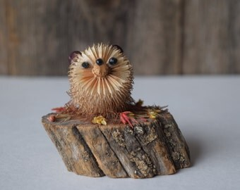 Figure woodland animal, porcupine/hedgehog decorative item