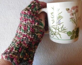 Made to Order OOAK Fingerless gloves fingerless mitts wristlets crocheted texting gloves handmade wristwarmers office gloves