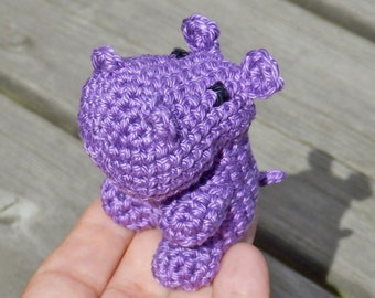 Small Crocheted Hippo