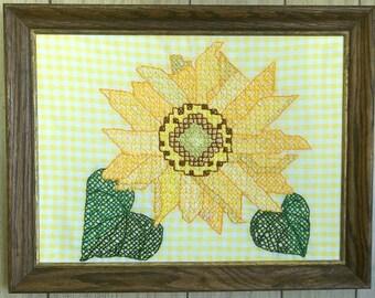 "Cross-stitch Embroidery ""Sunflower Splendor"""