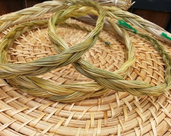 Sweetgrass (Hierochloe odorata) Braid approximately 24 inches, wild harvested, Reiki infused