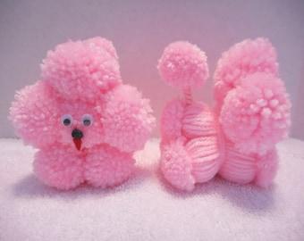 Pink Pom Pom Dog