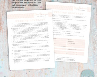 Wedding Photography Contract Template - Photoshop Download -  NG023 - INSTANT DOWNLOAD
