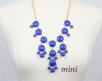 Blue Bubble Necklace  Bib Necklace Mini Version