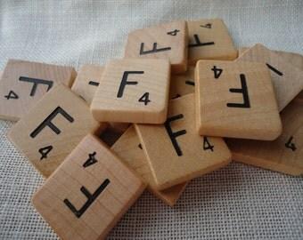 Scrabble Tile Letter F