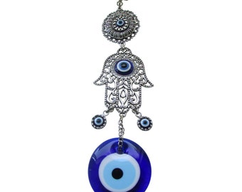 Evil Eye Charm with Hamsa, Hand of Miriam