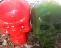 MINI SKULL CANDLES- Hoodoo, Voodoo, Conjure, Figure Candles, Santeria, Vela