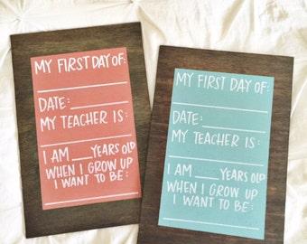 Back to School Chalkboard - First Day of School Board