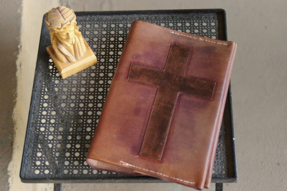 handmade leather bible covers handmade leather bible cover rugged cross by emmanuelleather 6835