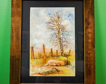 Rustic Watercolor forest scene
