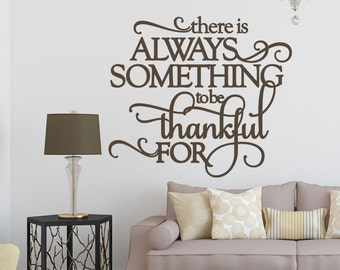 Thanksgiving Decorations, Thanksgiving Decor, Thanksgiving Wall Decor, Thankful, Wall Decals, Vinyl Decals, Wall Decal, Thanksgiving