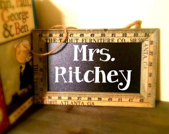 Ruler Chalkboard Teacher Gift (custom)