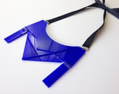 Statement Geometric necklace,art deco necklace, perspex necklace, Statement Jewelry
