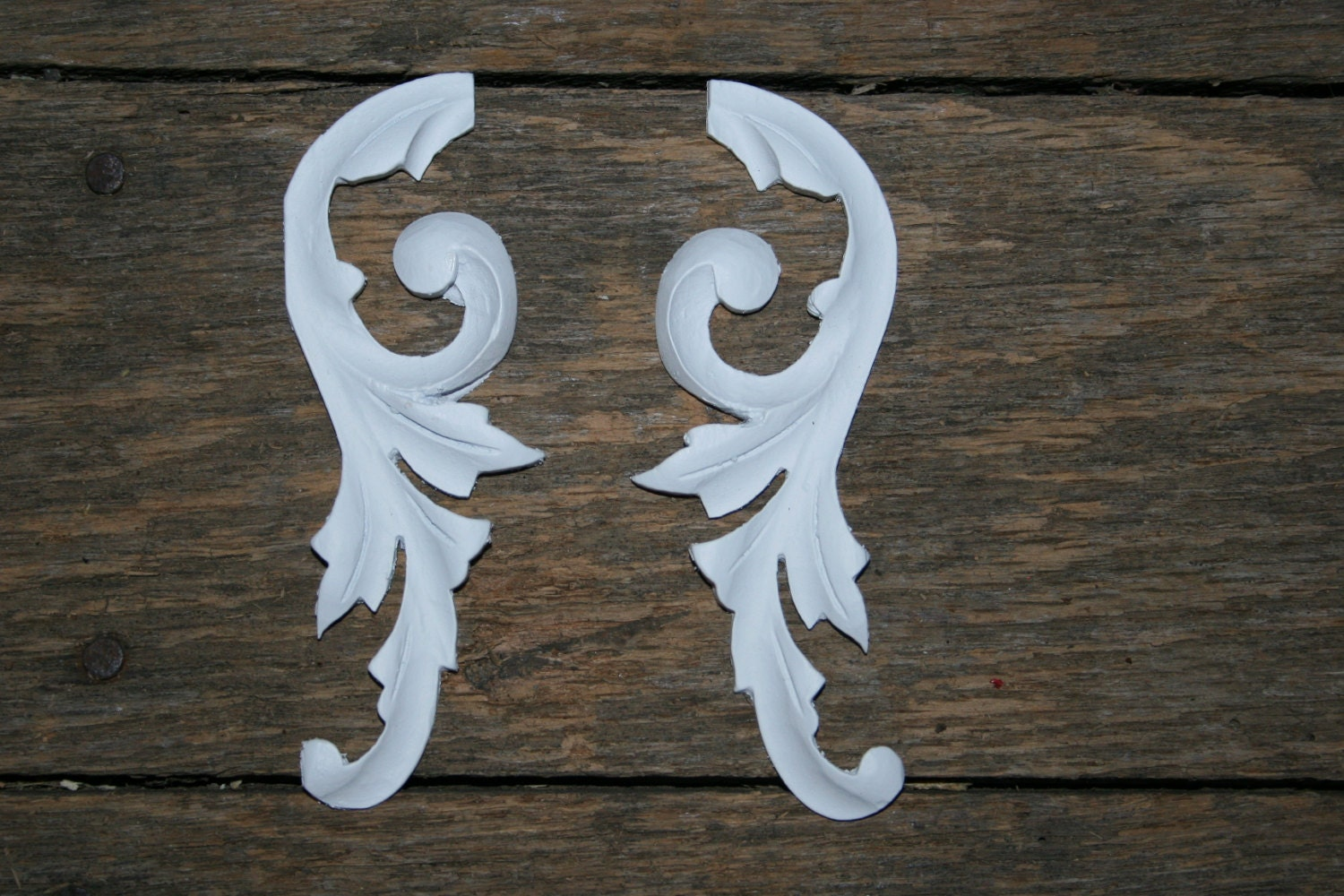 Diy furniture appliques shabby chic appliques cottage decor for Applique furniture decoration