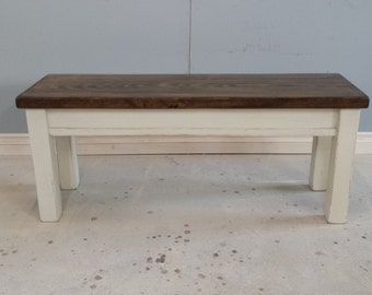 "44"" Long Seat Bench / Kitchen Bench / Farm House Bech / Entry Way Bench / ON  SALE"