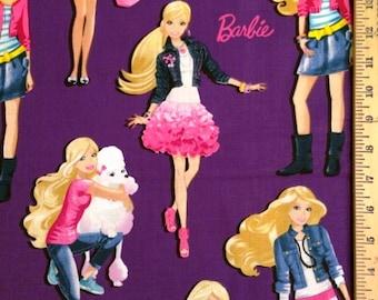 Barbie Cotton Fabric! [Choose Your Cut Size]