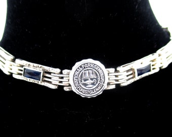 Vintage STERLING SILVER BRACELET National Park Seminary College Girls School Bracelet Art Deco Era