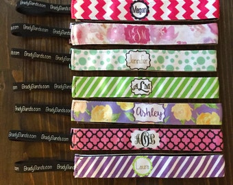 Personalized Monogram Non Slip Headband
