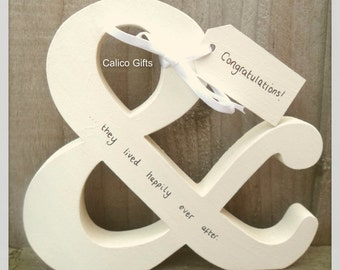 and they lived happily ever after wedding gift special couple engagement personalised letters &