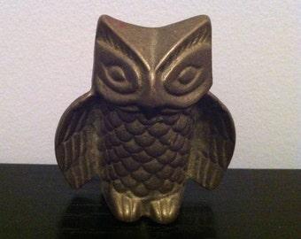 Antique Brass Owl Figurine