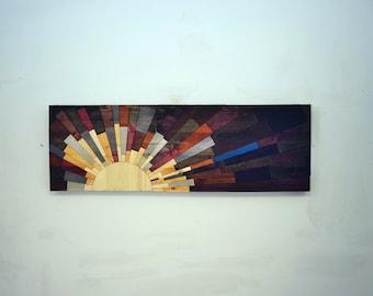 """wood wall art -  """"the URBAN SOMBRERO"""" - wooden wall art, sun, modern, contemporary art"""