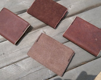 Hand stitched small leather journal