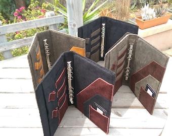 Hand stitched leather portfolio